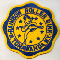 Felt patch from Rainbow Roller Rink (c1960).jpg