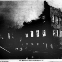 Firefighters keep eye on toppling factory wall, photo (Tonawanda News, 1972-05-30).jpg