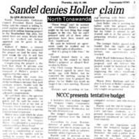 Sandel denies Holler claim, article (Tonawanda News, 1981-07-16).jpg