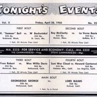 Four Corner Wrestling Club, program, reverse (1950-04-28).jpg
