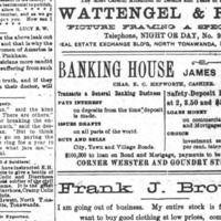Banking House of James H Rand on Webster and Goundry, ad (Tonawanda News, Fulton 1650).jpg