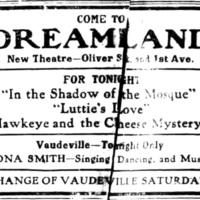 Come to Dreamland, ad (Tonawanda News, 1914-07-01).jpg