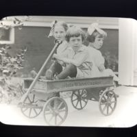 Girls in Auto-Wheel Coaster, magic lantern slide (c.1920).jpg