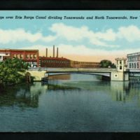 Bridge over Erie Barge Canal dividing Tonawandas, postcard (c1920).jpg