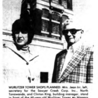Wurlitzer tower shops planned, photo article (Tonawanda News, 1978-10-04).png