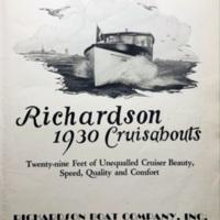 Richardson 1930 Cruisabouts, catalog, title page (c1929).jpg