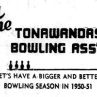 Tonawandas Bowling Assn, ad logotype (1950).png