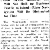 Swing Bridge Will Be Down at Least a Week, article (Tonawanda News, 1927-10-22).jpg
