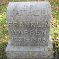 Franklin, Warren, photo of grave in Sweeney Cemetery.png