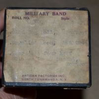 Artizan Factories Inc., Military Band Organ music roll label, 801A (c1925).JPG