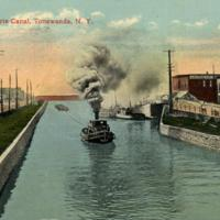 A Tow, on Erie Canal, Tonawanda, postcard (1915).jpg