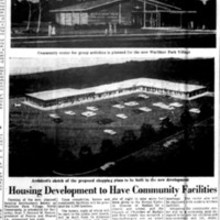 Housing Development to Have Community Facilities, Wurlitzer Park Village, illustrated article (Buffalo Courier-Express, 1957-09-03.jpg