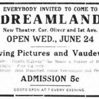 Everybody invited to come to Dreamland, ad (Tonawanda News, 1914-06-22).jpg