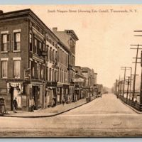 South Niagara Street (showing Erie canal), postcard (1910-09-21).jpg