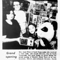 Martins Book Town grand opening in new location, article (Tonawanda News, 1973-11-28).jpg
