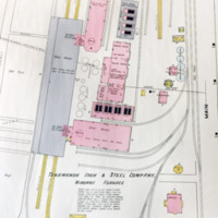 Tonawanda Iron and Steel, Niagara furnace, map detail (Sanborn Map Company, 1910, 1913).jpg