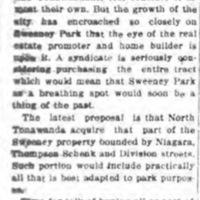 No More Time to Talk, Sweeney Park, article (Tonawanda News, 1915-08-24).jpg