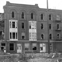 Hotel Sheldon after fire, photo (Wittkowsky Collection, c1920).jpg