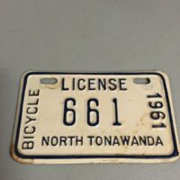 Bicycle license, North Tonawanda, 1961.jpg