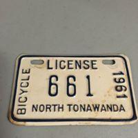 Bicycle license, North Tonawanda, 1961.jpg