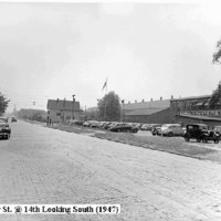 Oliver Street at 14th Ave looking south, photo (1947).jpg