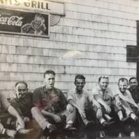 Men hanging out at Hans Grill, Martinsville, photo (c1945).jpg