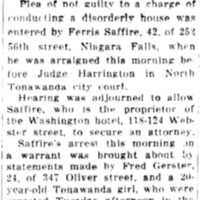 Pleads not guilty to operating brothel in Washington hotel, article (Tonawanda News, 1934-01-04).jpg