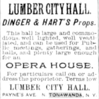 Lumber City Hall, opera house, ad (1893-09-29).jpg