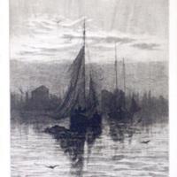 Tonawanda Harbor - Amos W. Sangster etching (1886).JPG