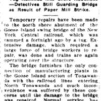 Swing Bridge Working Again, Goose Island, Tonawanda Board and Paper strike, article (Tonawanda News, 1919-06-21).jpg