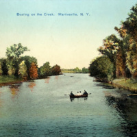 Boating on the Creek, postcard, Martinsville, postcard (c.1905).jpg