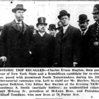 Governor Hughes, de Kleist, and others, photo (Tonawanda News, 1908).jpg