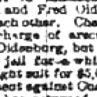 Chadwick arson allegation backfires, Oldenberg sues, article (Buffalo Courier, 1885-09-06).png