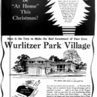 Wurlitzer Park Village, illustrated Christmas ad, Buffalo Courier-Express, 1957-12-22).jpg