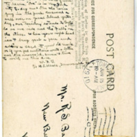 Portion of Harbor in Twin Cities, Goose Island, postacard back (1910-06-15).jpg