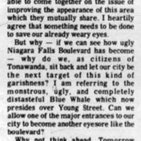 More Garishness? letter to editor criticizes Blue Whale Car Wash (Tonawanda Evening News, 1973-01-08).jpg