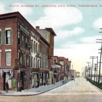 South Niagara Street Showing Erie Canal, postcard (c1900).jpg