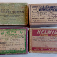 Helwigs, Fischers and Fairchild pharmacy boxes (1929-1963).jpg