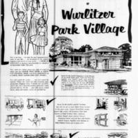 Wurlitzer Park Village, illustrated ad (Buffalo Courier-Express, 1958-05-25).jpg