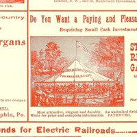 Armitage Herschell Steam Riding Gallery, illustrated ad, red (Street Railway Journal, 1898 PD).png