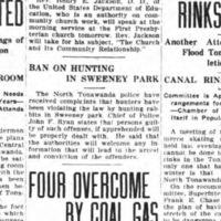 Ban on Hunting in Sweeney Park, article (Tonawanda News, 1919-01-11).jpg