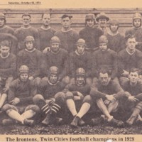 The Irontons, 1928 Twin Cities Champions, newspaper photos (1974, Tonawanda News, Olszowka).jpg