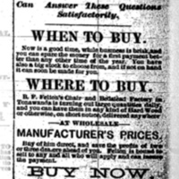 BF Feltons Chair and Bedstead Factory, ad (Tonawanda Heraldf, 1883-05-17).jpg