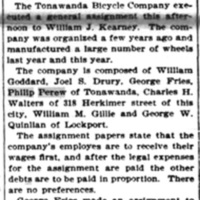 Tonawanda failure, Tonawanda Bicycle Company, article (Buffalo News, 1896-10-20).jpg