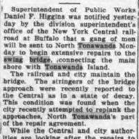 1City and Railroad to Repair Bridge, article (Tonawanda News, 922-10-04).jpg