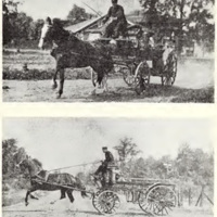 Early firemen, horse and buggy, photos c1890 (From 100 Years, 1965).jpg