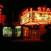 Ott Drugs, Star Theatre at night, Tonawanda, photo (c1967).jpg