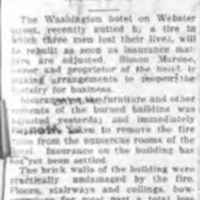 Burned Washington hotel to be rebuilt, formerly Backer House, article (Tonawanda News, 1925-01-03).jpg