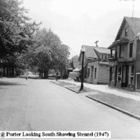 Oliver Street at Porter looking south showing Stenzel, photo (1947).jpg