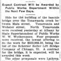 Bids are received for new bascule bridge, article (Tonawanda News, 1917-08-22).jpg